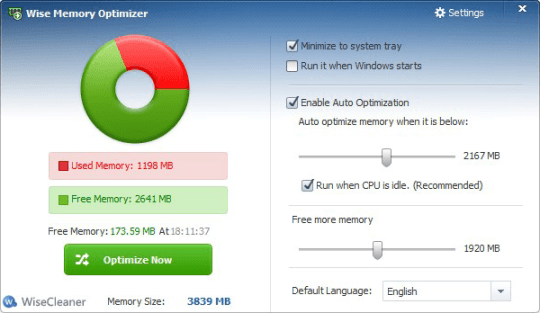 Программа для чистки ОС Wise Memory Optimizer